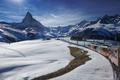 The train towards Gornergrat with Matterhorn view in winter - PhotoDune Item for Sale
