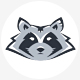 Raccoon Head Logo - GraphicRiver Item for Sale
