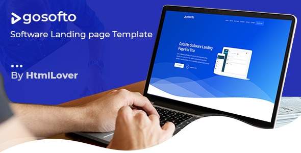 GoSofto - Software Landing Page Responsive HTML Template