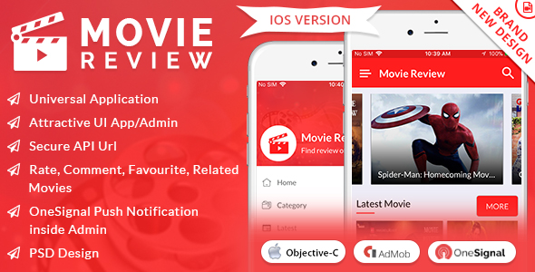 iOS Movie Review App - CodeCanyon Item for Sale