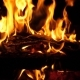 Red Coals Burn in at Night, - VideoHive Item for Sale