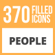 370 People Filled Round Icons