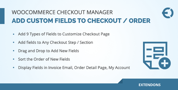WooCommerce Checkout Manager - Add / Edit Checkout Fields - CodeCanyon Item for Sale