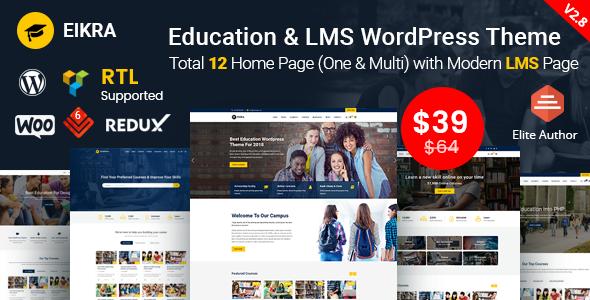 Eikra - Education WordPress Theme