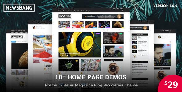 Newsbang - News and Magazine WordPress Blog Theme