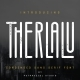 Therlalu - Condensed Sans Serif Font - GraphicRiver Item for Sale