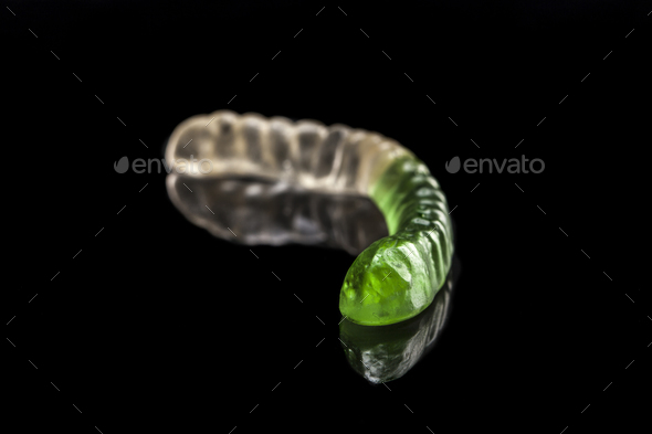 Green Worm Alone - Stock Photo - Images