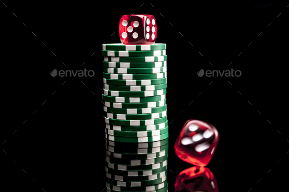 Chips and Dices - Stock Photo - Images