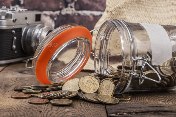 Coins On Table - Stock Photo - Images