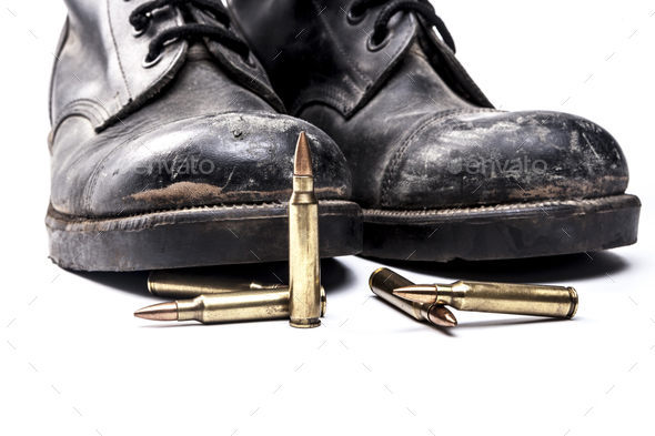 Bullets and Boots - Stock Photo - Images