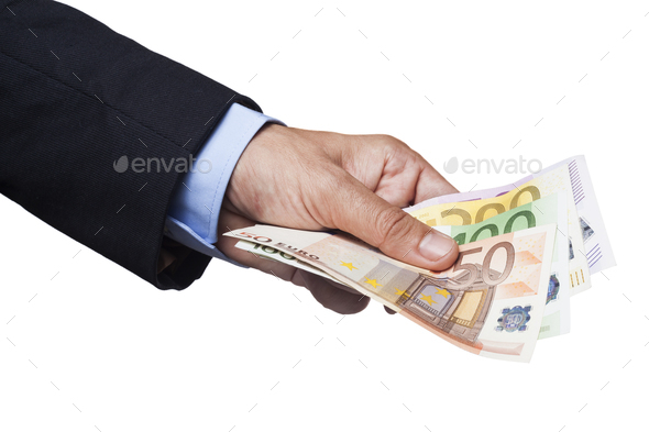 Holding Euro Banknotes - Stock Photo - Images