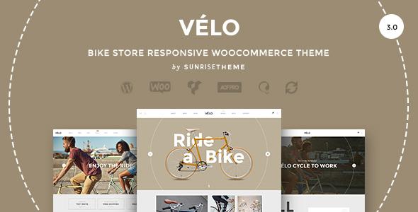 Velo - Bike Store Responsive Business Theme - WooCommerce eCommerce