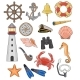 Sea Vector Marine or Nautical Symbols Lighthouse - GraphicRiver Item for Sale