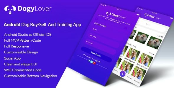 DogyLover - Android Dog Buy/Sell And Training App - CodeCanyon Item for Sale
