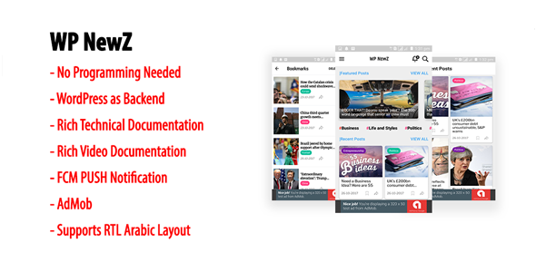 WP NewZ | WordPress to Android News App            Nulled