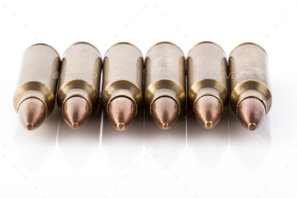 Six Bullets Front - Stock Photo - Images