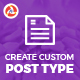Create Custom Post Type - CodeCanyon Item for Sale