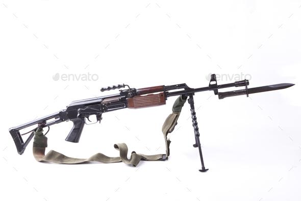 Machinegun with Bayonet - Stock Photo - Images