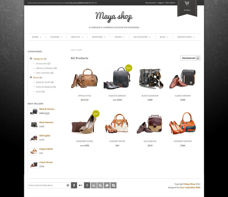 MayaShop - A Flexible Responsive e-Commerce Theme by Sara_p ...
