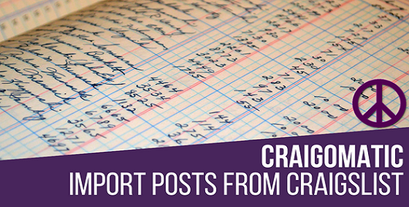 Craigomatic - Craigslist Automatic Post Generator Plugin for WordPress - CodeCanyon Item for Sale