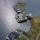 Aerial View of Fishing Lodges on the Seashore - VideoHive Item for Sale