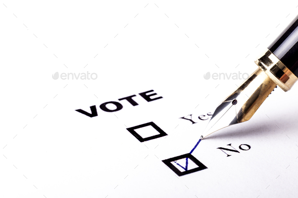 Voting No - Stock Photo - Images