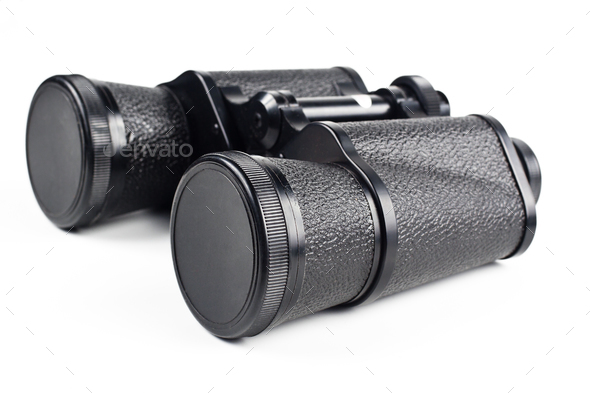 black binoculars - Stock Photo - Images