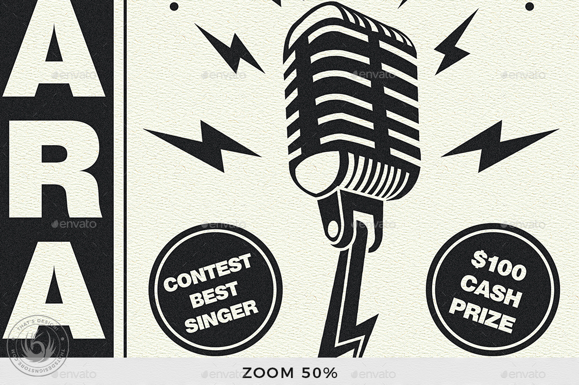 Karaoke Flyer Template V3 By Lou606 Graphicriver