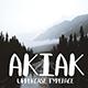 Akiak Bold Uppercase Handmade Font
