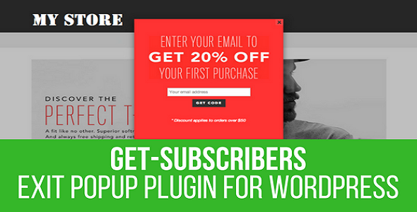 Get Subscribers - Exit Popup for WordPress - CodeCanyon Item for Sale