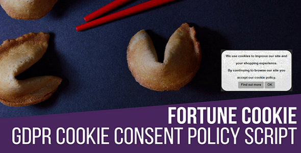 Fortune Cookie Consent Policy Javascript Script - CodeCanyon Item for Sale