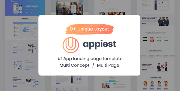 Appiest - MultiConcept App Landing Page HTML