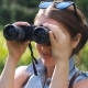 Woman Tourist Looking Through Binoculars - VideoHive Item for Sale