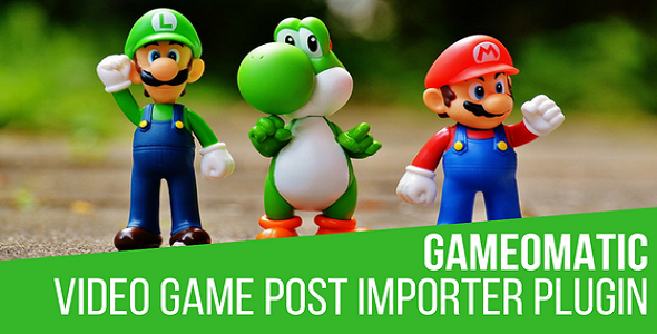 Gameomatic - Giant Bomb Automatic Post Generator Plugin for WordPress - CodeCanyon Item for Sale