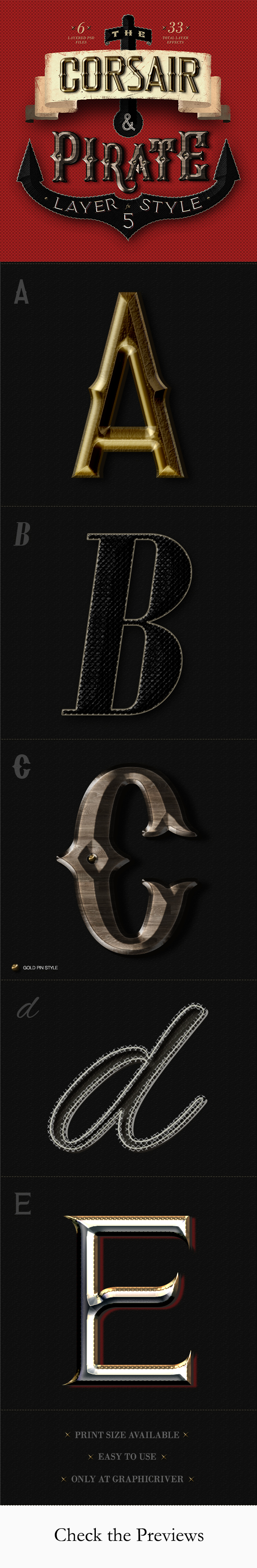 The Corsair and Pirate Photoshop Text Effect - Text Effects Actions