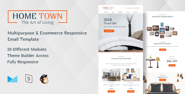 HomeTown-Multipurpose Ecommerce Responsive Email Template