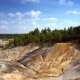 Aerial Flight Along Steep Slopes of Clay Quarry - VideoHive Item for Sale