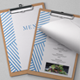 Blue Lines Restaurant Menu - GraphicRiver Item for Sale