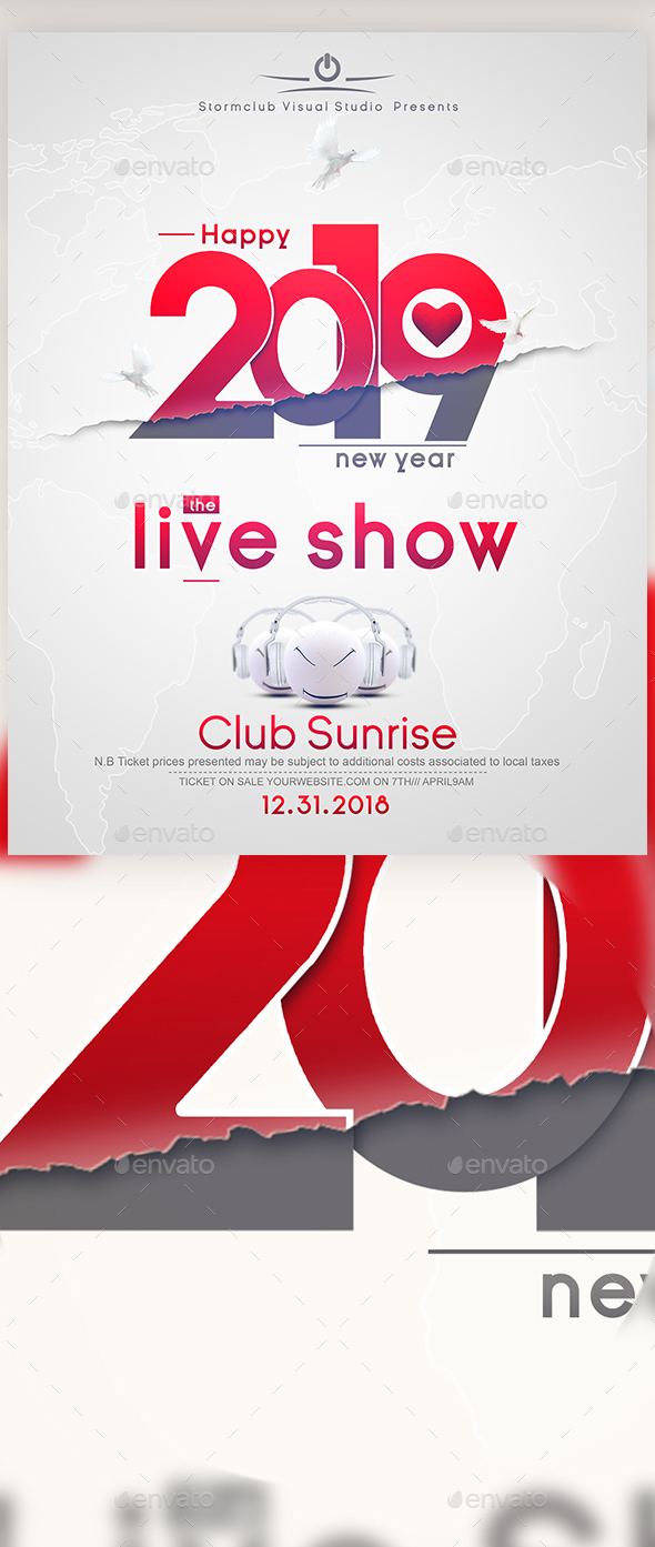 A4 New Years Eve Poster by Stormclub | GraphicRiver