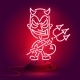 Red Neon Devil - GraphicRiver Item for Sale