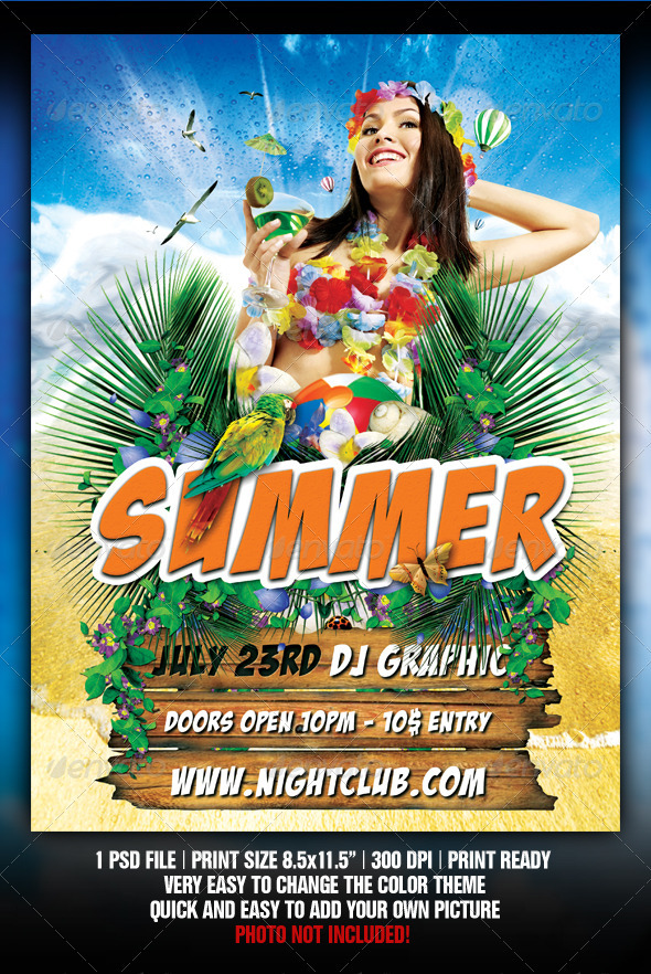 Beach Party flyer - Flyers Print Templates