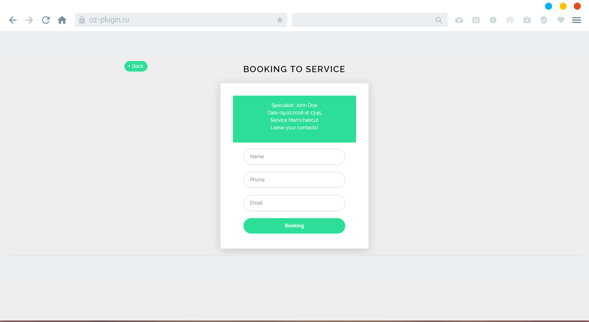 Book Appointment Online Pro By Ozplugin Codecanyon