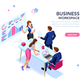 Business Flat Isometric Banner - GraphicRiver Item for Sale