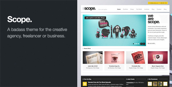 Scope: Agency / Business WordPress Theme - Portfolio Creative