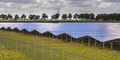 Solar panel field in industrial area on summer day - PhotoDune Item for Sale