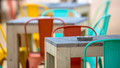 Modern Restaurant terrace with ashtray - PhotoDune Item for Sale