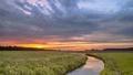 Sunrise over lowland river valley landscape - PhotoDune Item for Sale