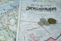 jerusalem map and coins - PhotoDune Item for Sale