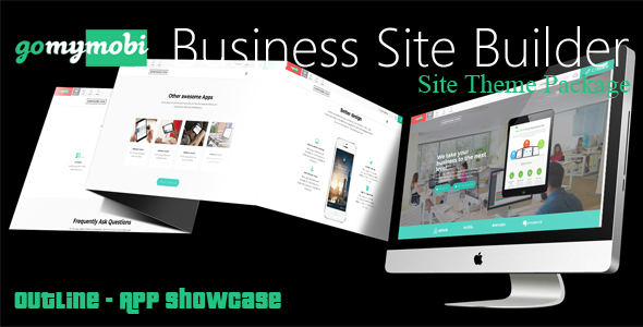 gomymobiBSB's Site Theme: Outline - App Showcase - CodeCanyon Item for Sale