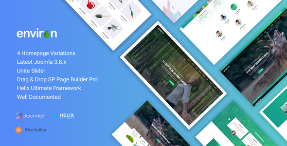 Environ - Non profit and Environment Joomla Template Free Download | Nulled